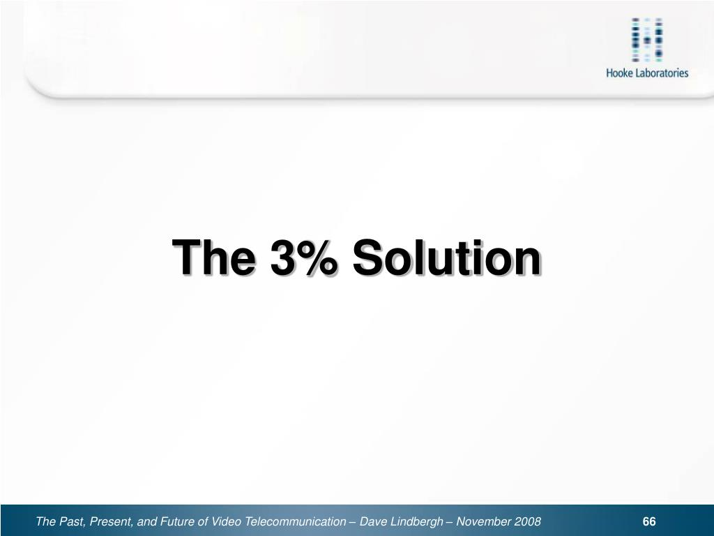 The 3% Solution