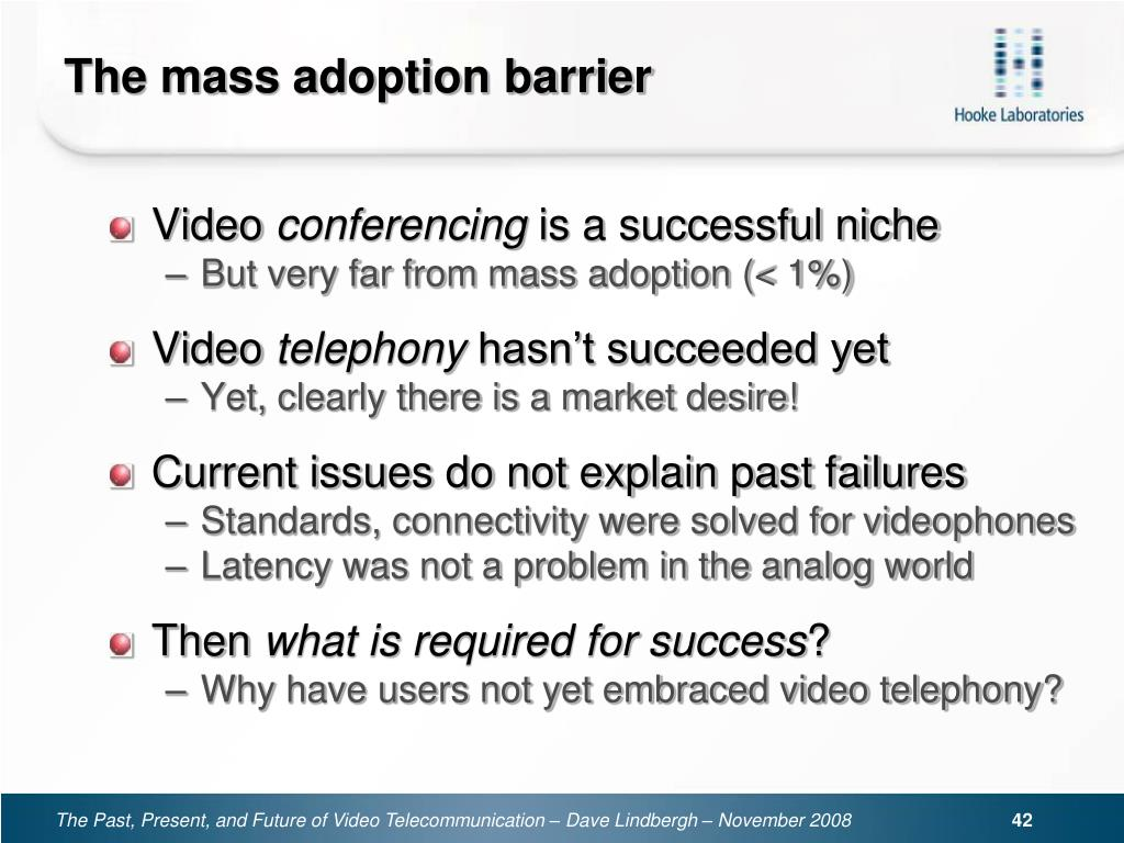 The mass adoption barrier