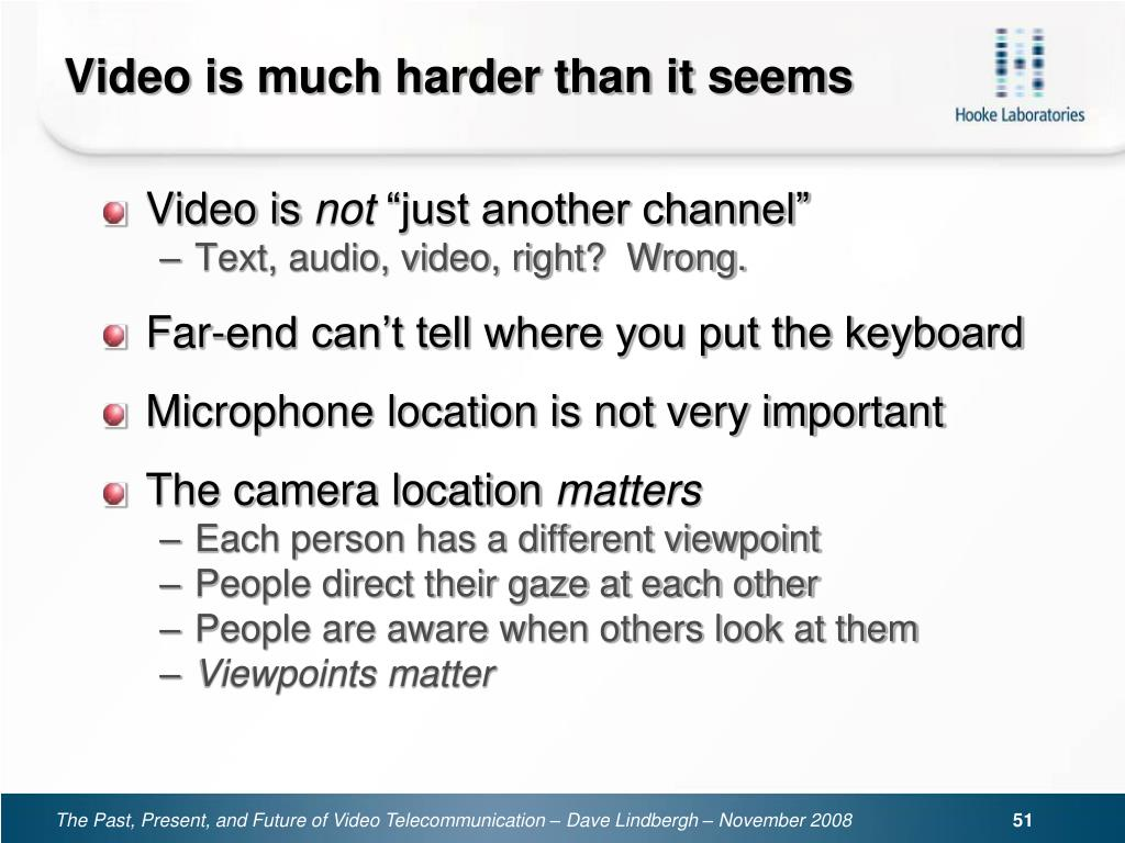 Video is much harder than it seems