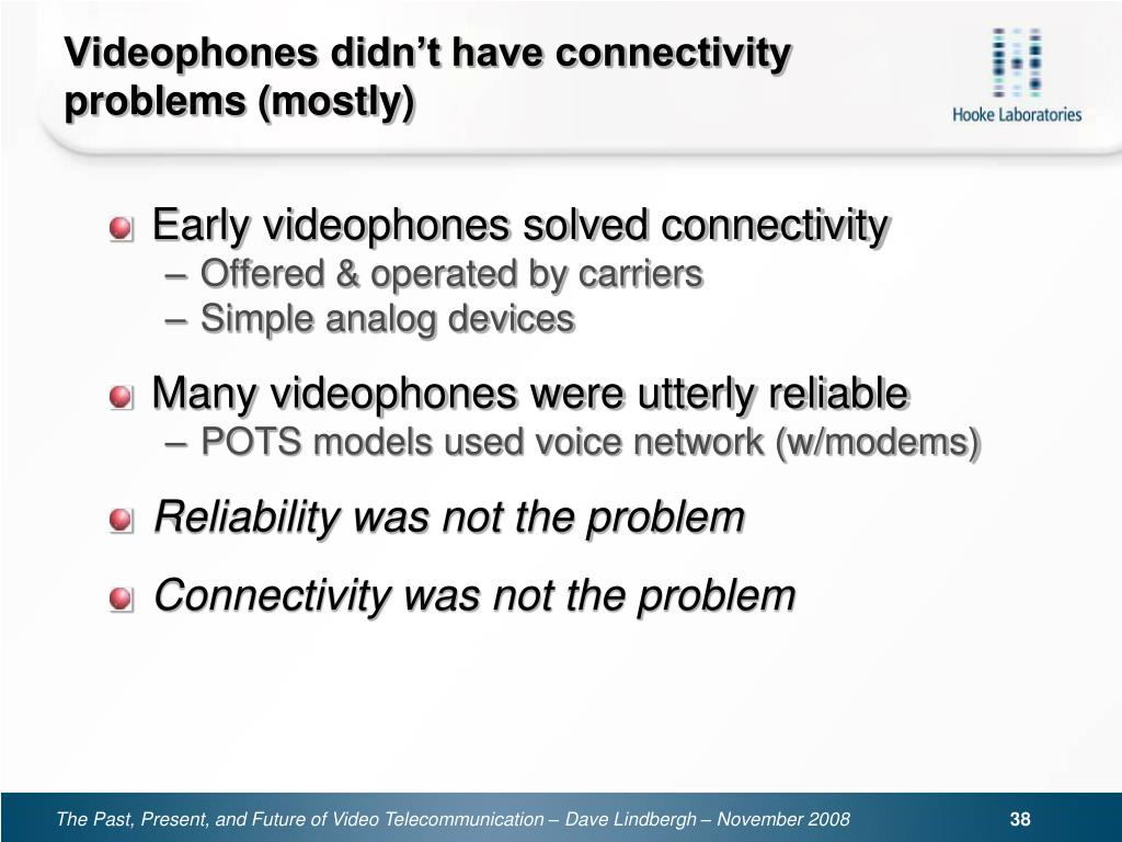Videophones didn't have connectivity problems (mostly)