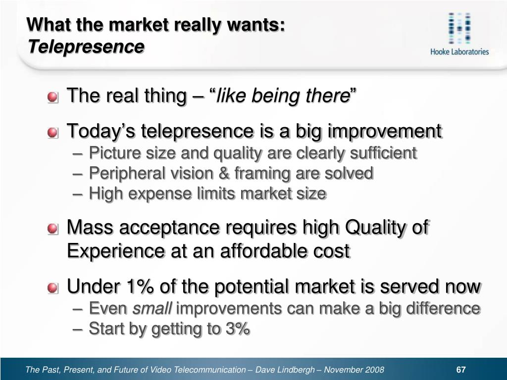 What the market really wants: