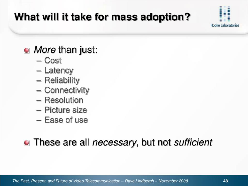 What will it take for mass adoption?