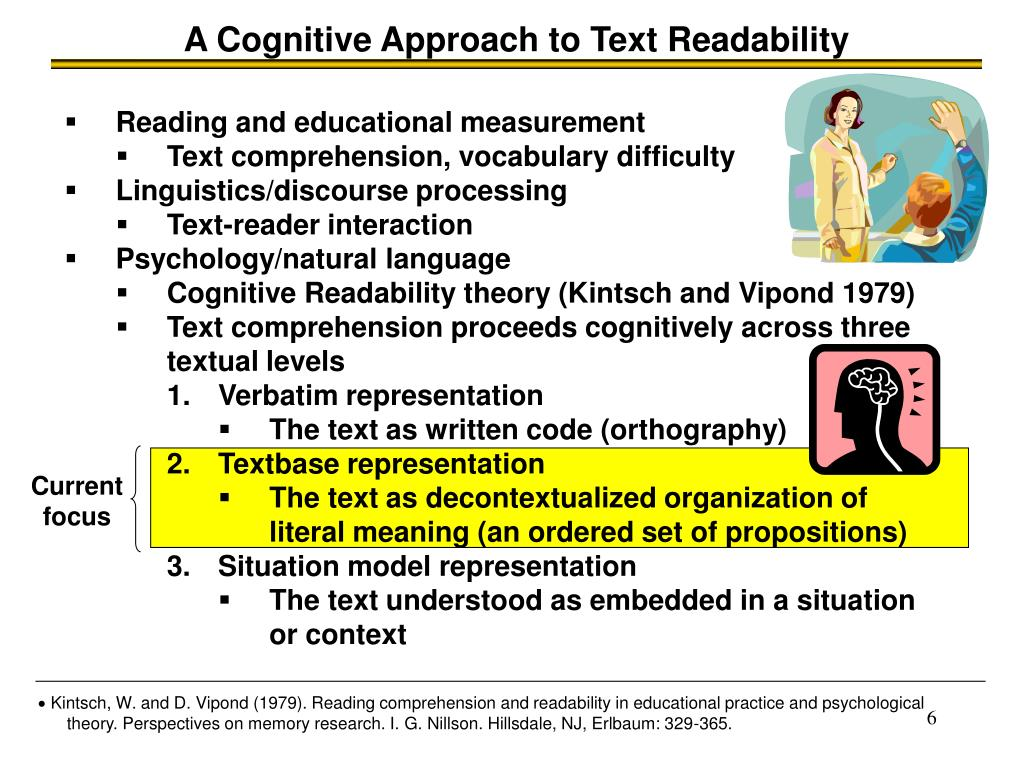 A Cognitive Approach to Text Readability