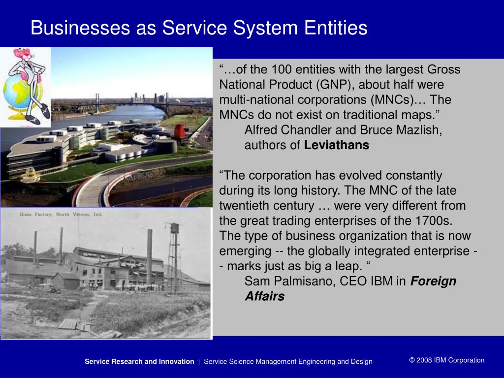 Businesses as Service System Entities