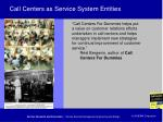 call centers as service system entities