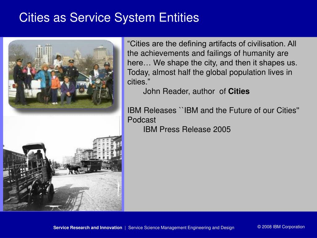 Cities as Service System Entities