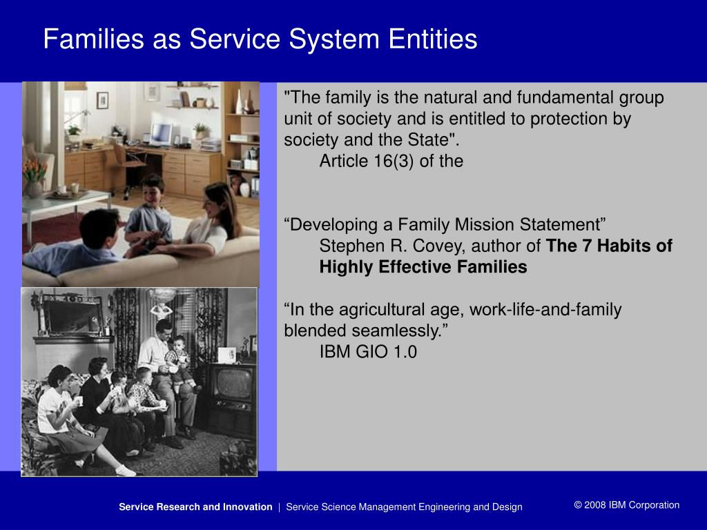 Families as Service System Entities