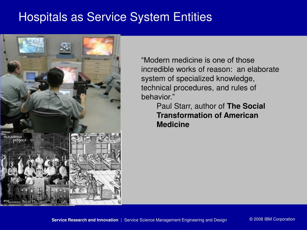 Hospitals as Service System Entities