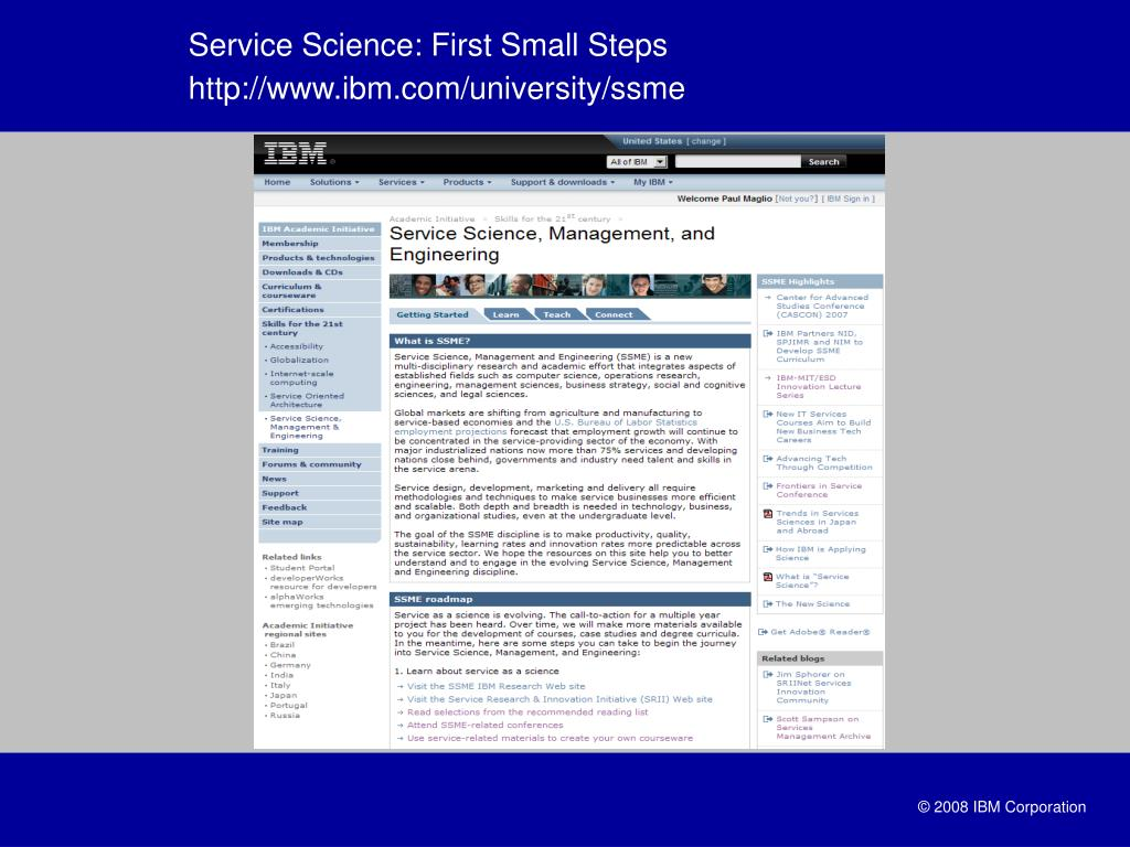 Service Science: First Small Steps