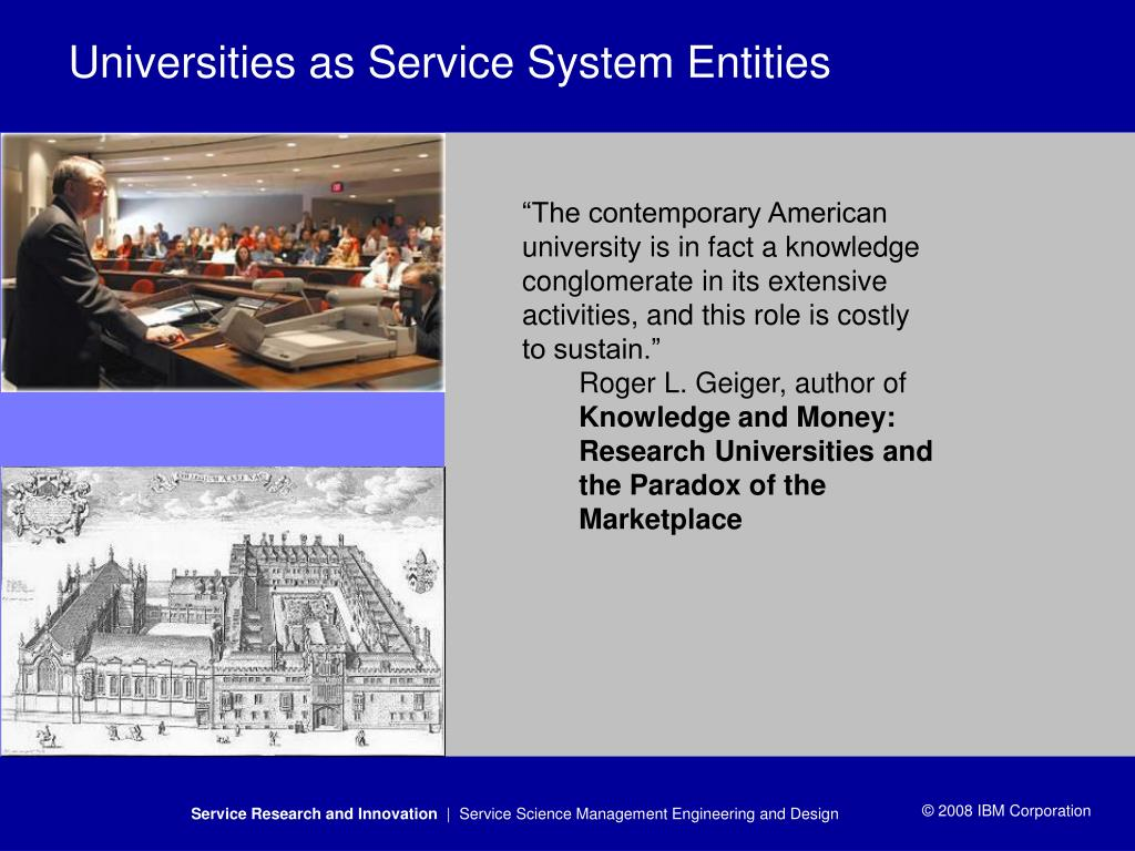 Universities as Service System Entities