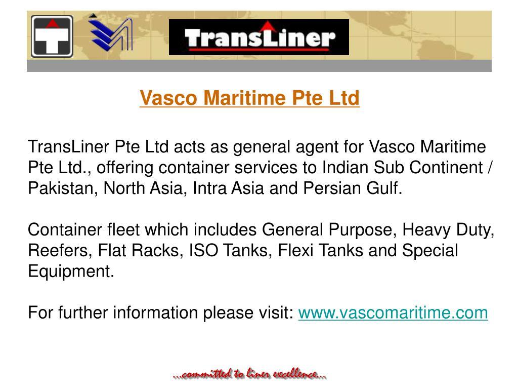 Vasco Maritime Pte Ltd