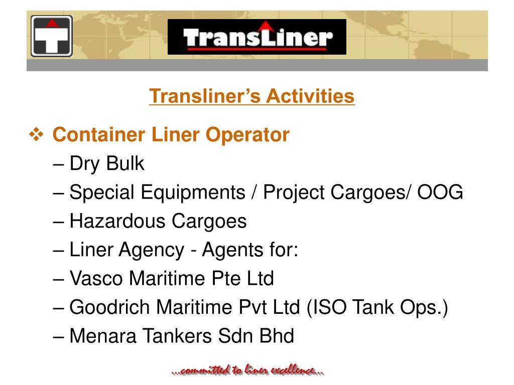 Transliner's Activities
