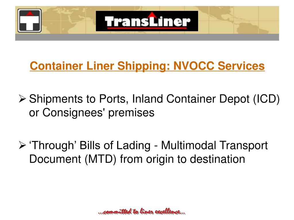 Container Liner Shipping: NVOCC Services