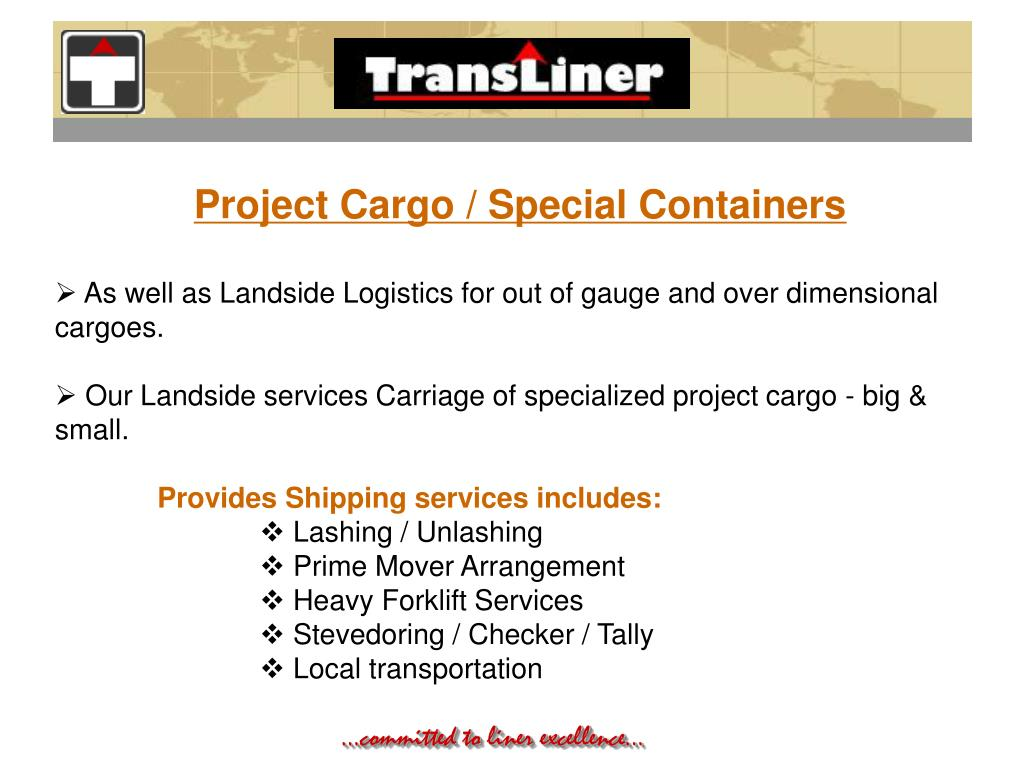 Project Cargo / Special Containers
