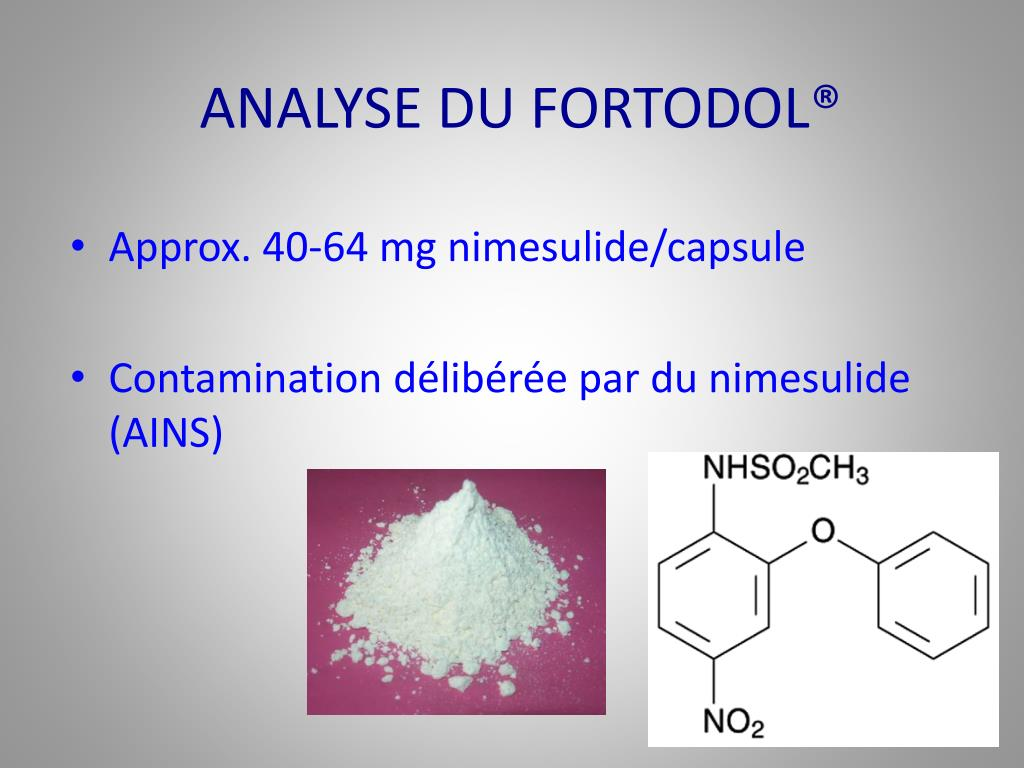 ANALYSE DU FORTODOL