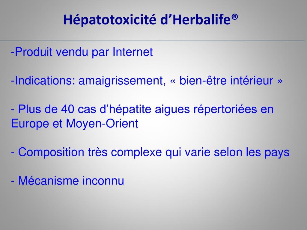 Hépatotoxicité d'Herbalife®