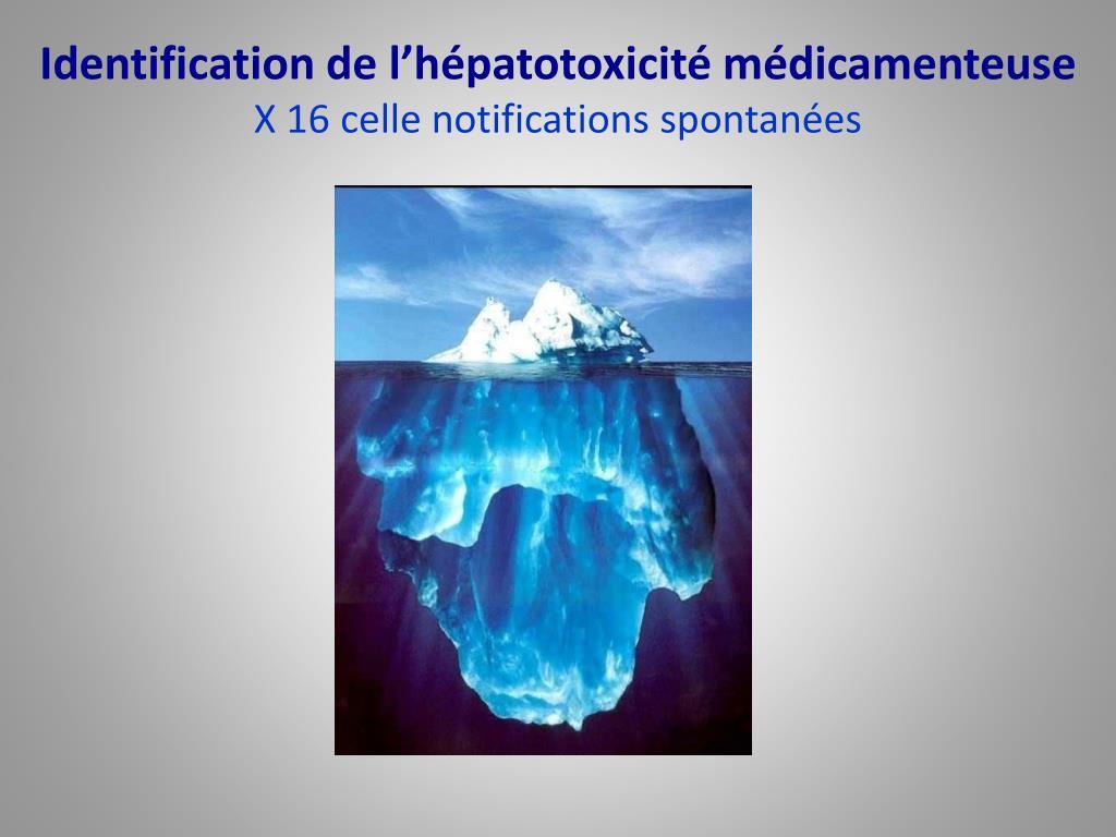 Identification de l'hépatotoxicité médicamenteuse