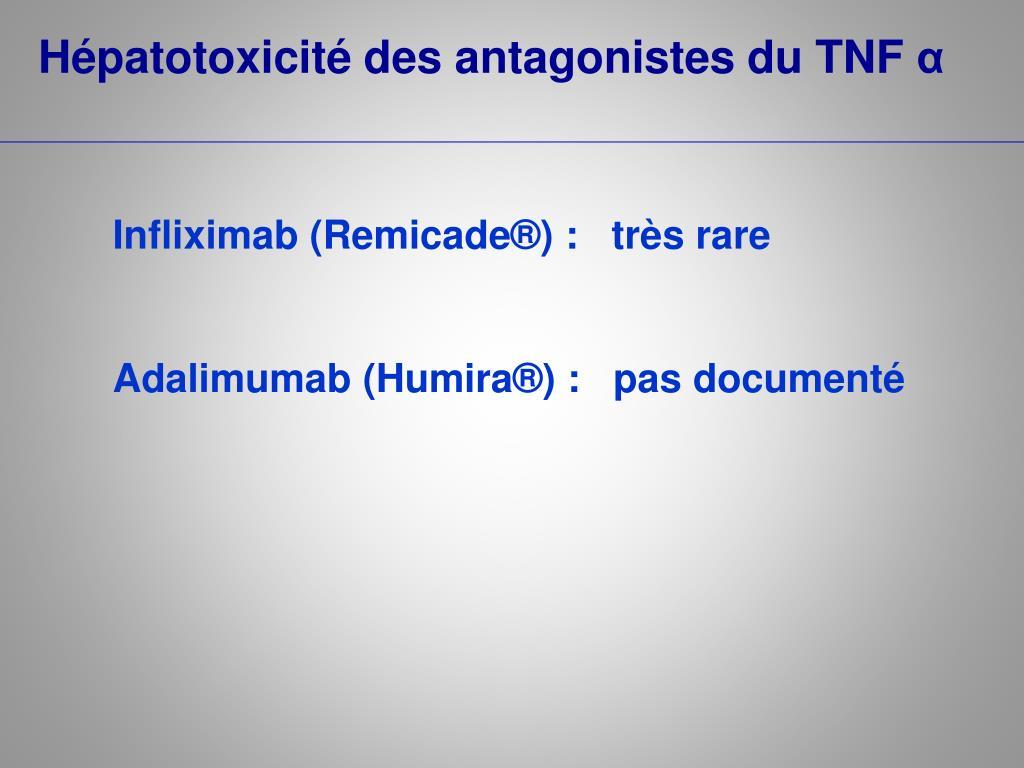 Hépatotoxicité des antagonistes du TNF