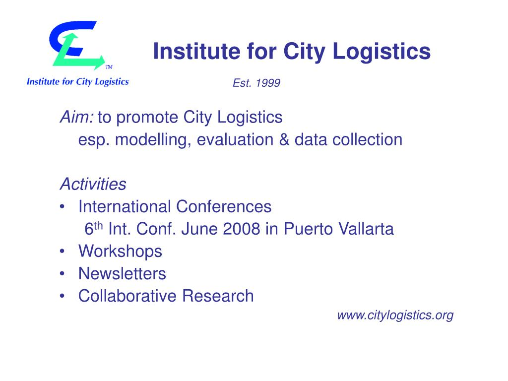 Institute for City Logistics