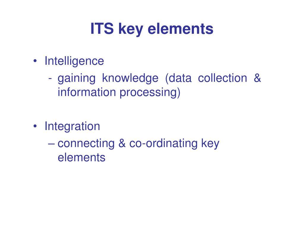 ITS key elements