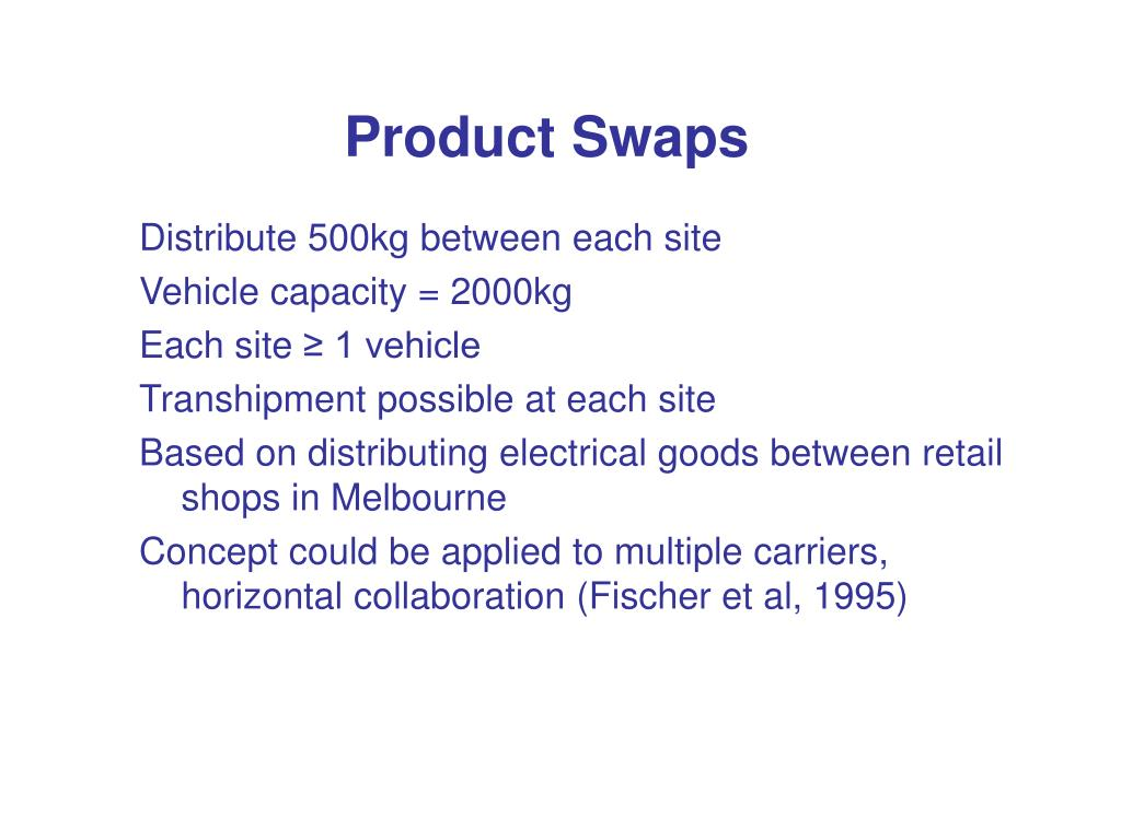 Product Swaps