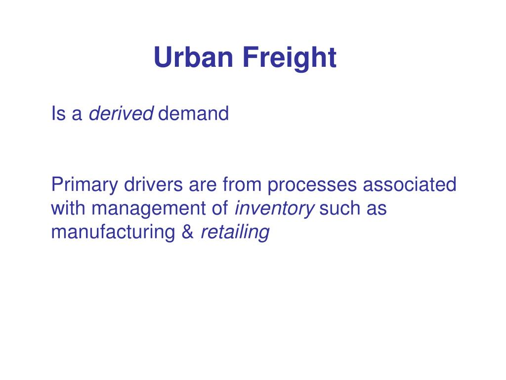 Urban Freight