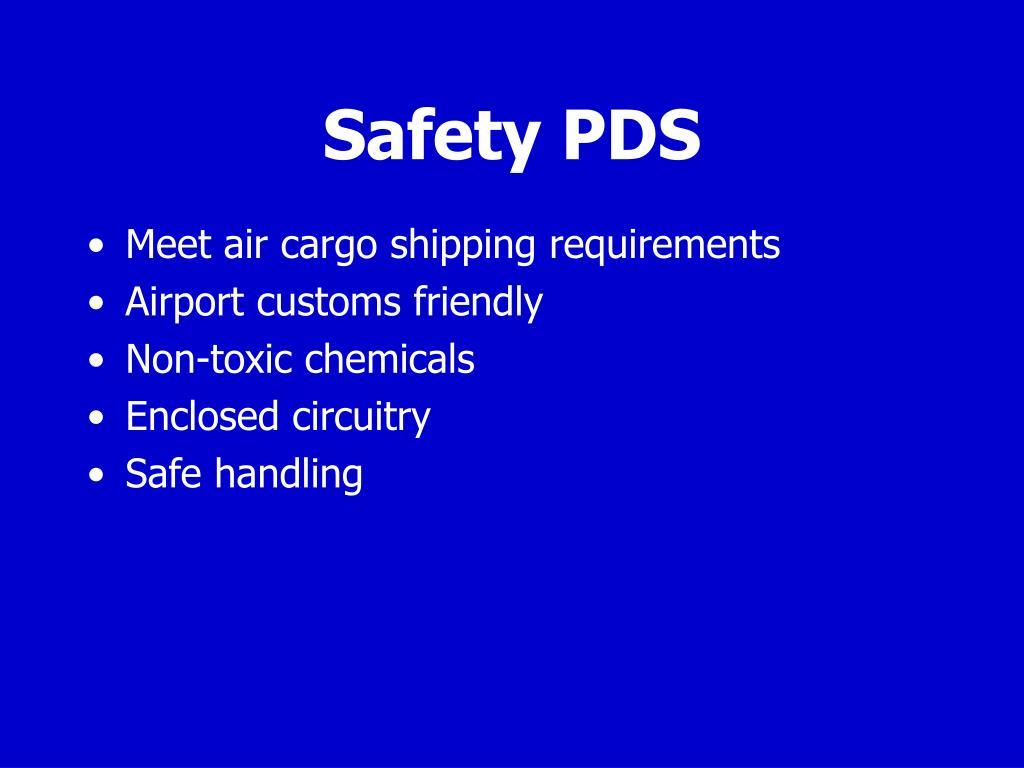 Safety PDS