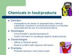 chemicals in food products