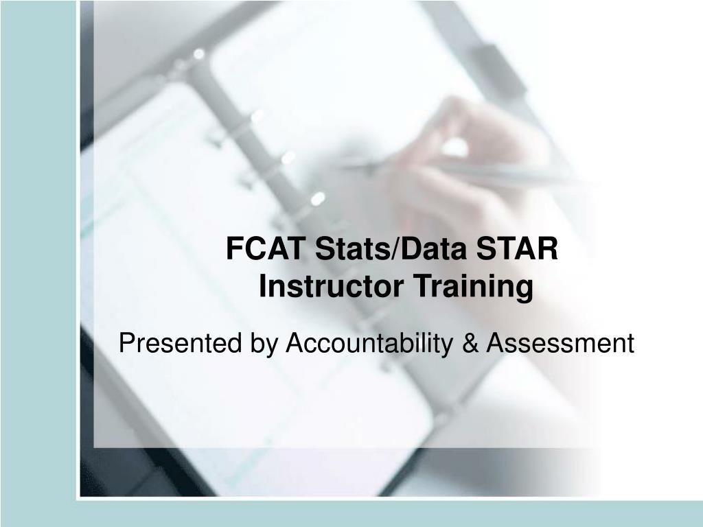 fcat stats data star instructor training