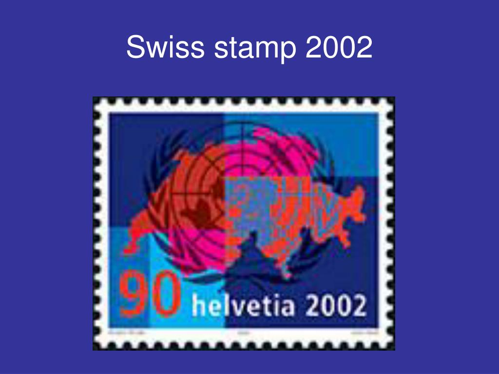 Swiss stamp 2002