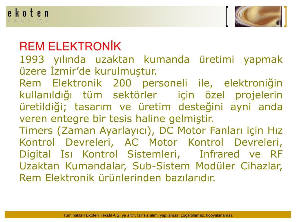 REM ELEKTRONİK