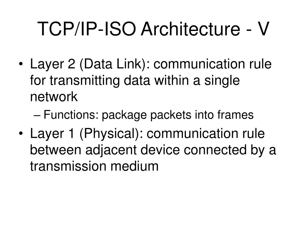 TCP/IP-ISO Architecture - V