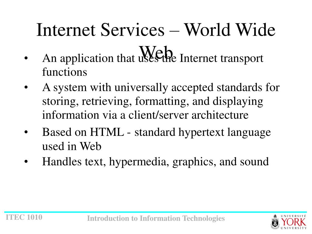 Internet Services – World Wide Web