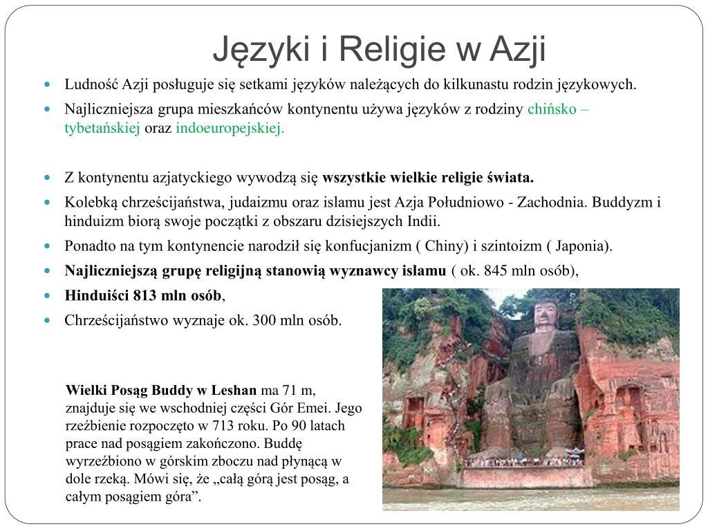 Języki i Religie w Azji