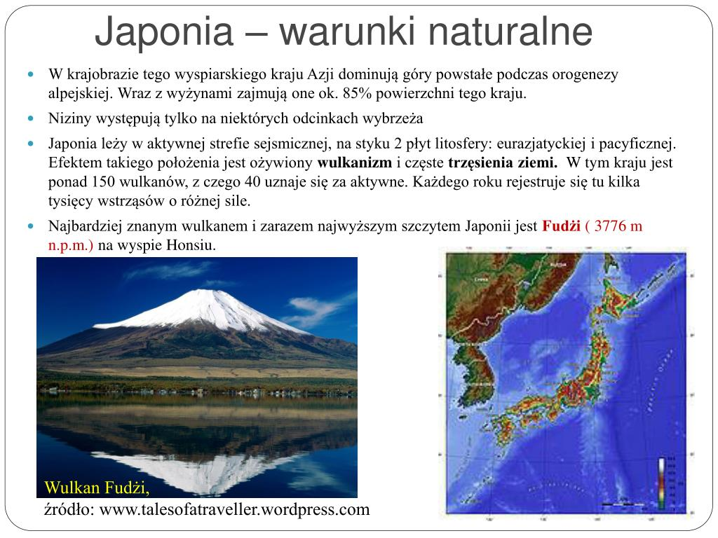 Japonia – warunki naturalne