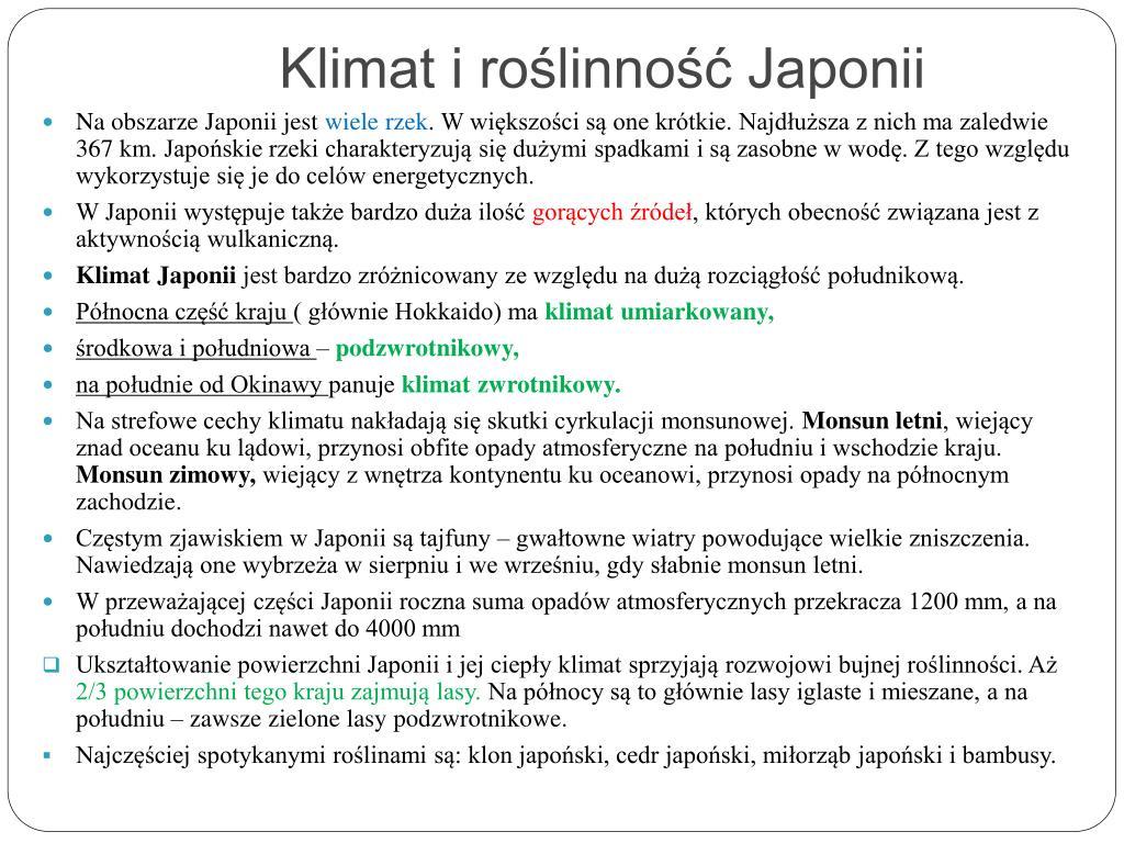 Klimat i roślinność Japonii