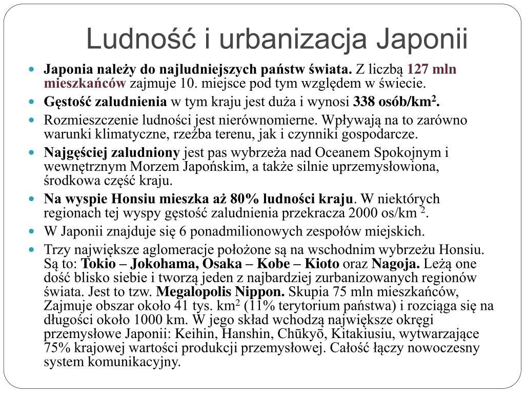 Ludność i urbanizacja Japonii