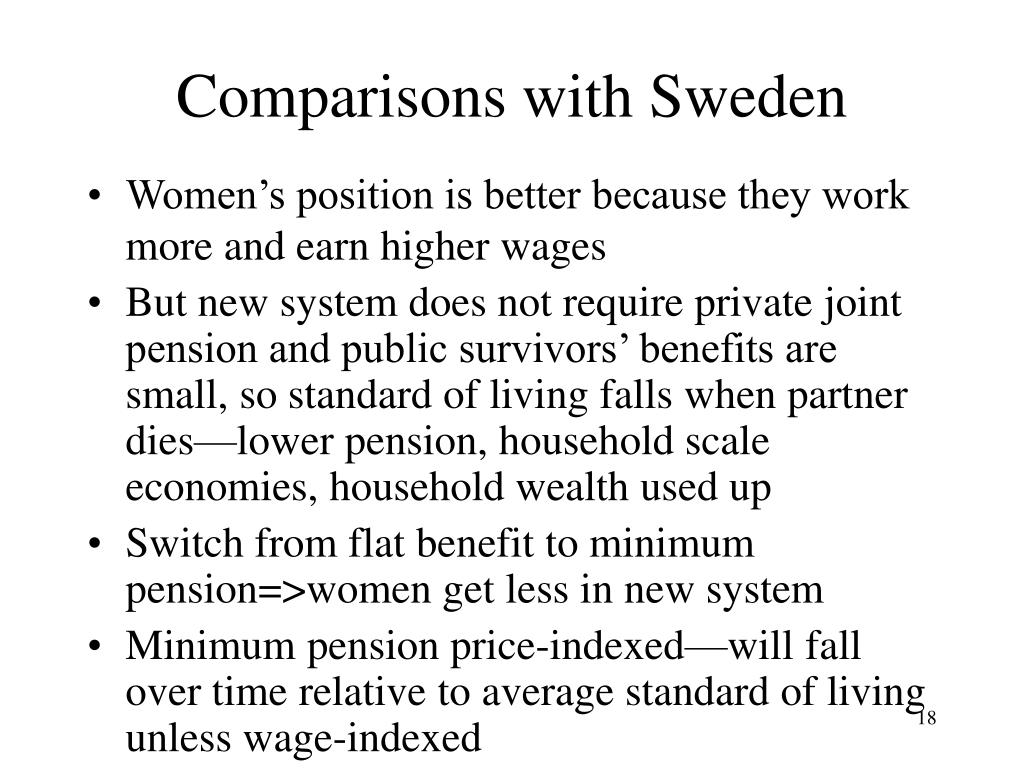Comparisons with Sweden