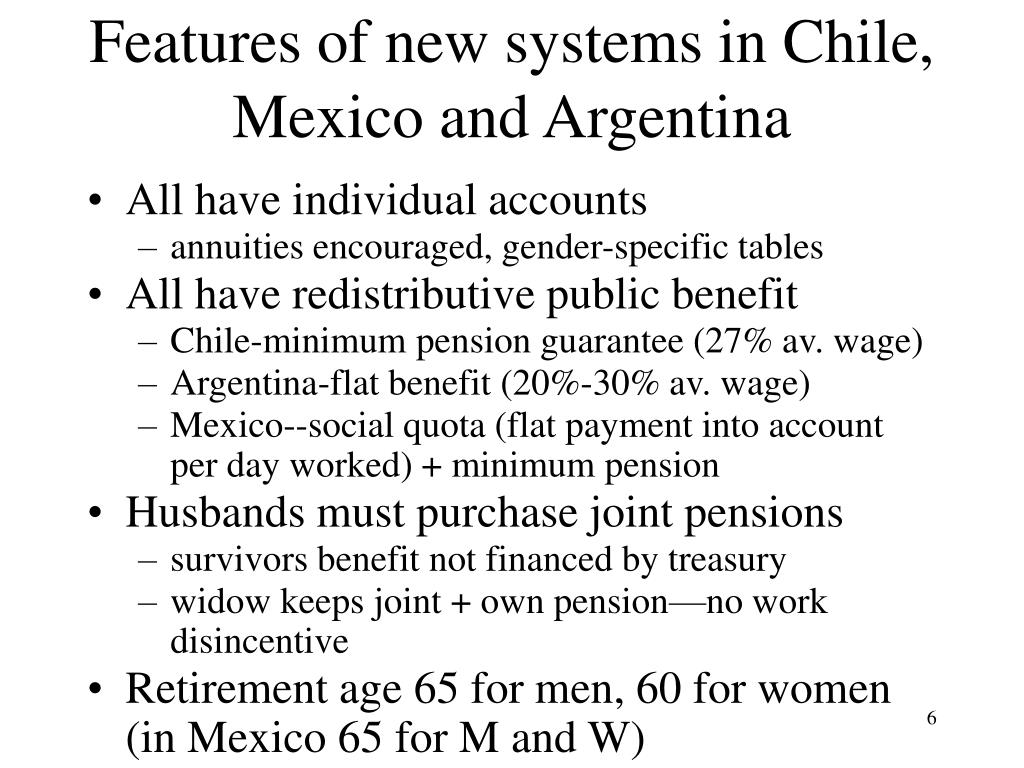 Features of new systems in Chile, Mexico and Argentina