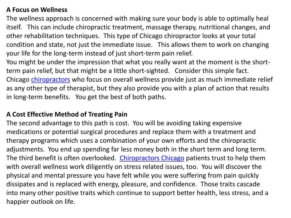 A Focus on Wellness