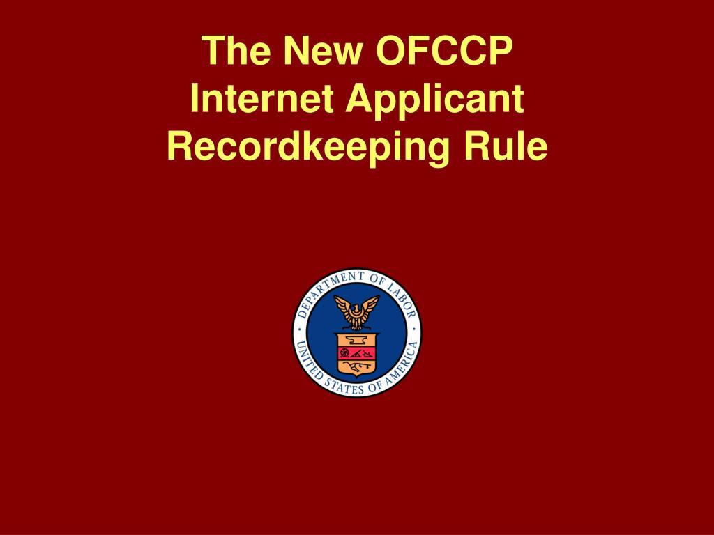 The New OFCCP
