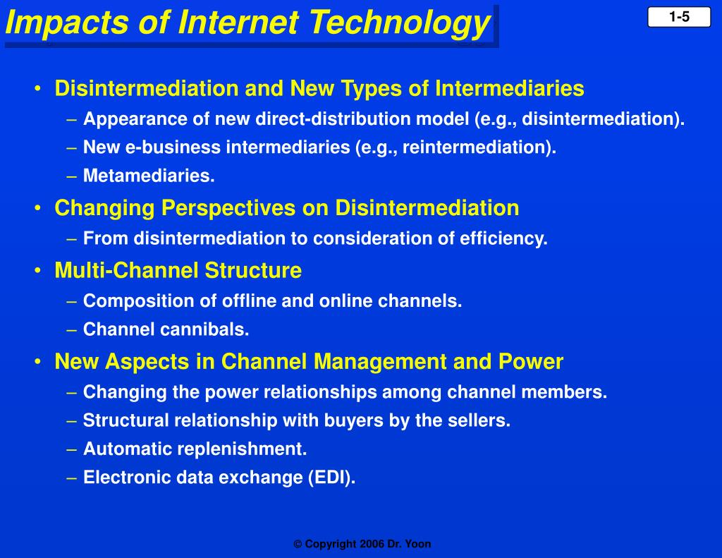 Disintermediation and New Types of Intermediaries