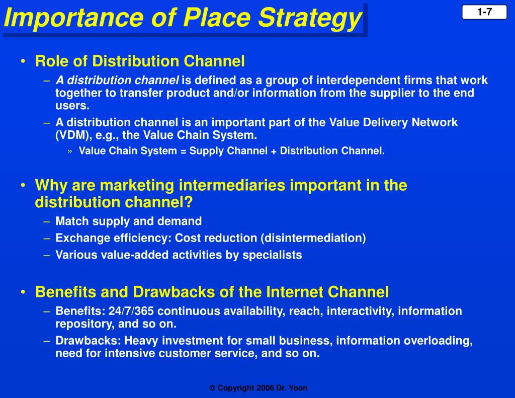 Role of Distribution Channel