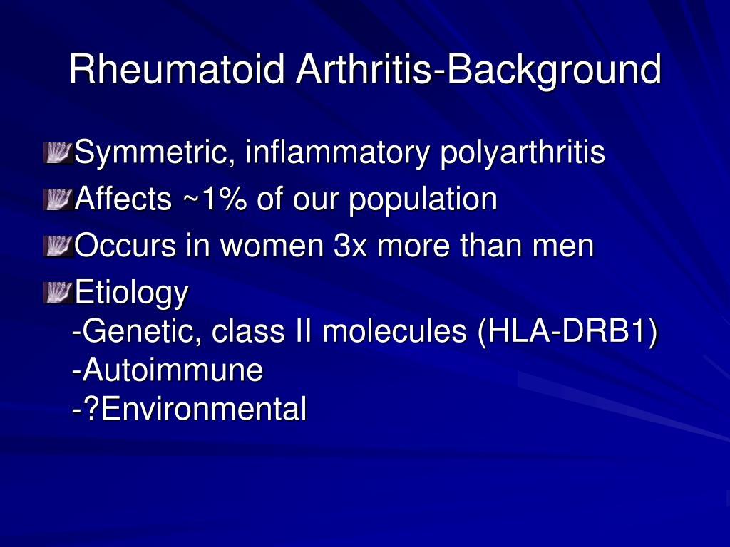 Rheumatoid Arthritis-Background
