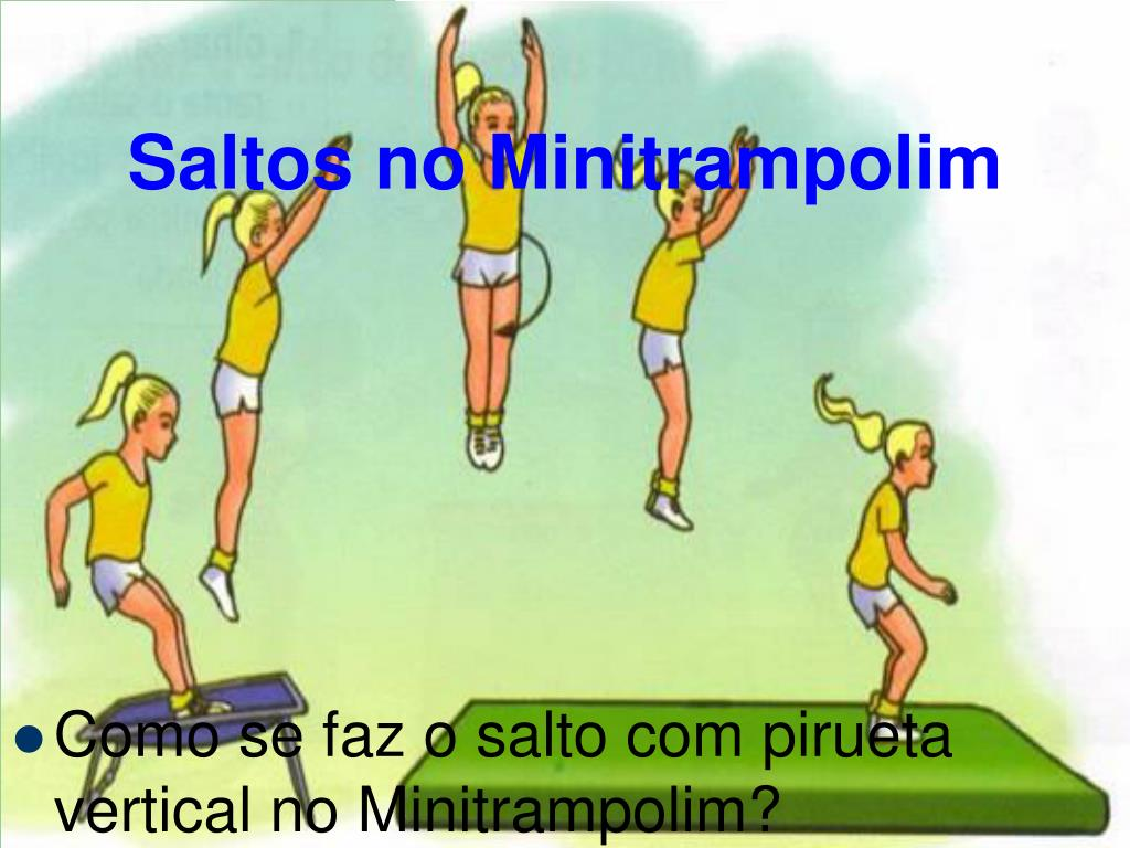 Saltos no Minitrampolim