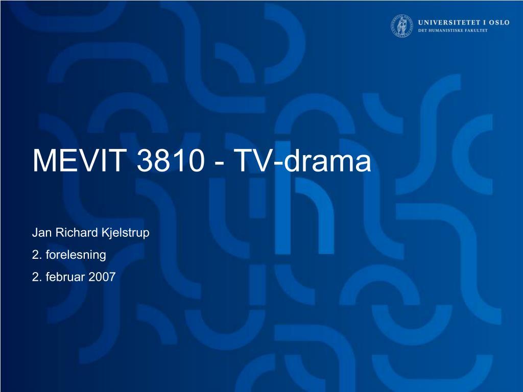 MEVIT 3810 - TV-drama