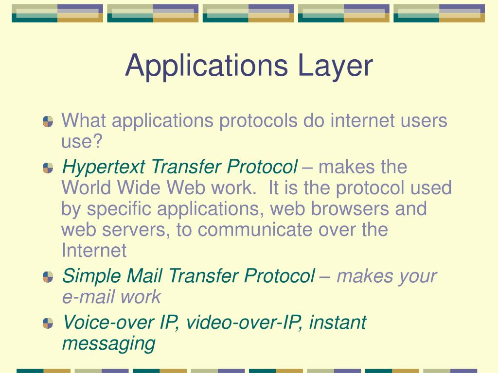 Applications Layer