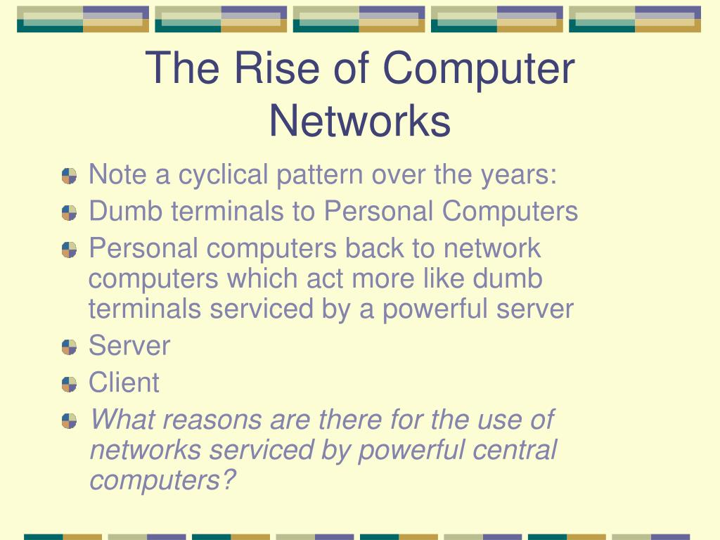 The Rise of Computer Networks