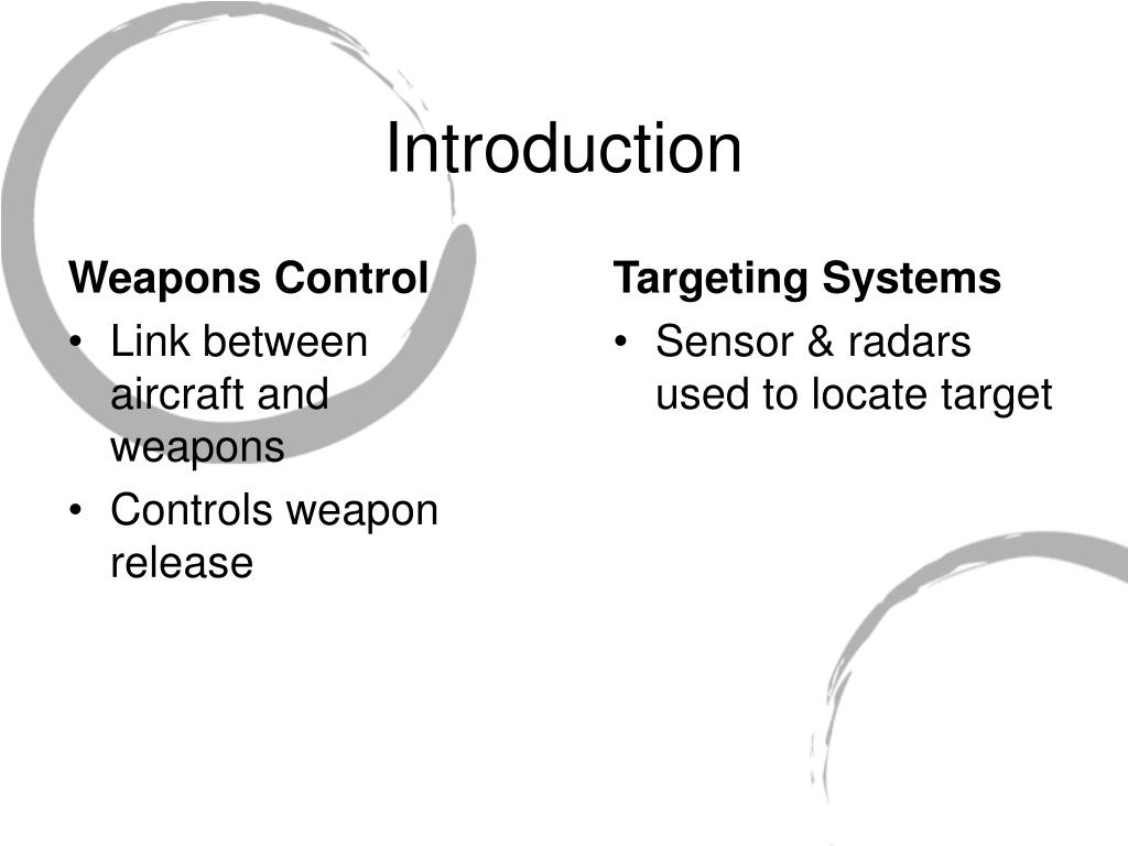 Weapons Control