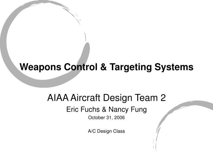 Weapons control targeting systems l.jpg